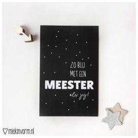 Zo blij met een meester als jij  | mini-kaartje