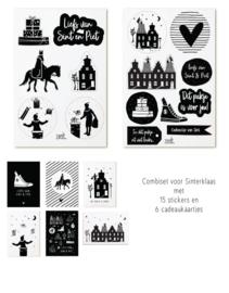 Sint set cadeaukaartjes + cadeaustickers | Sinterklaas