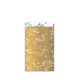 Sing along Sint - goud/wit - 12 x 19 cm | cadeauzakjes