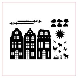 Raamstickers | Basisstraatje voorjaar