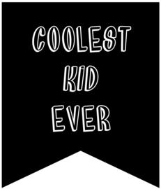 Coolest kid ever   muursticker