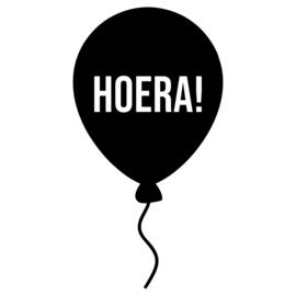 Hoera - ballon | raamsticker herbruikbaar