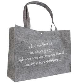 Ik ken een lieve juf | vilten tas