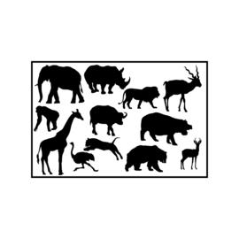 Jungle dieren | statische raamstickers