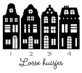 Raamstickers | Losse huisjes