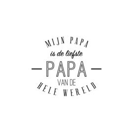 Mijn papa is de liefste papa | strijkapplicatie