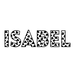 Naam met hartjes | strijkapplicatie
