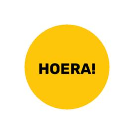 HOERA - okergeel | sticker