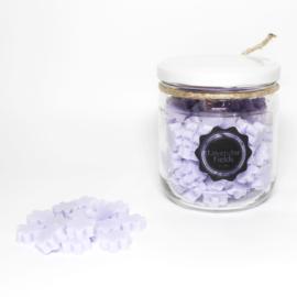 Mini handzeepjes 'Lavender Fields' in glazen potje