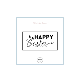 DIY sticker happy Easter