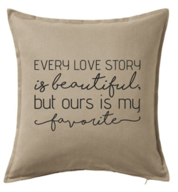 Every love story is beautiful ... | kussenhoes