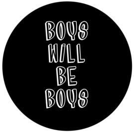 Boys will be boys   muursticker