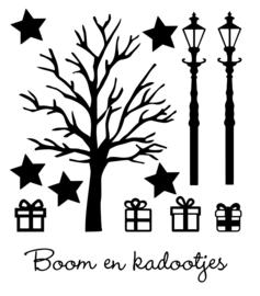 Raamstickers | Aanvulling boom en cadeautjes