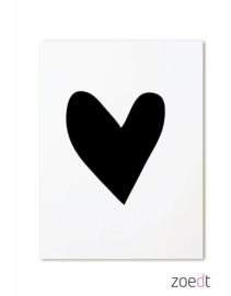 Zwart hartje | kaart
