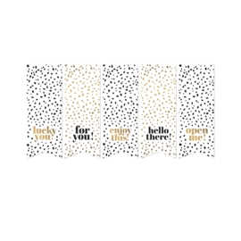 Black & Gold vaantjes   sticker