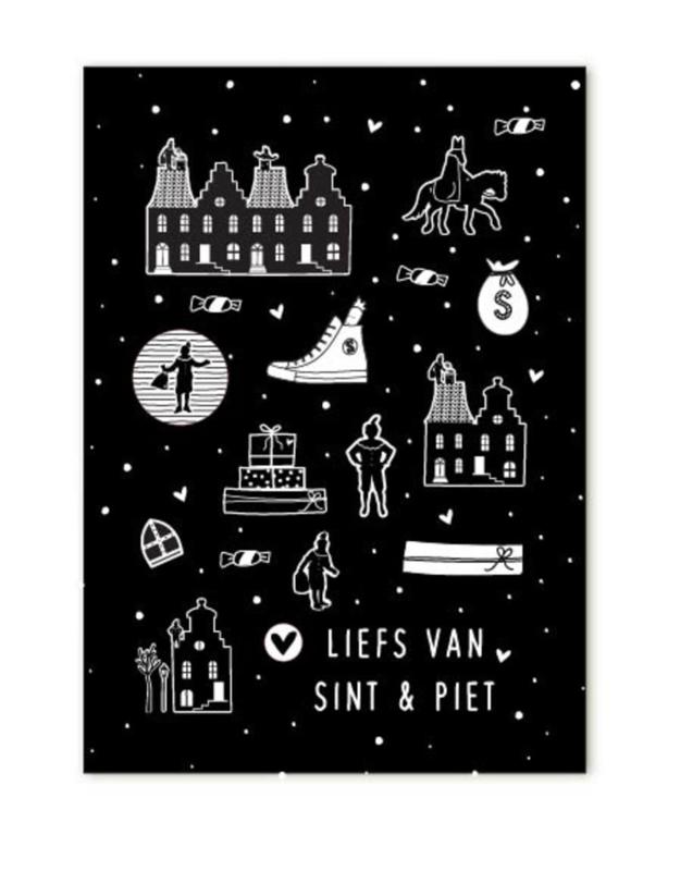 Minikaartje Liefs van Sint en Piet   Sinterklaas