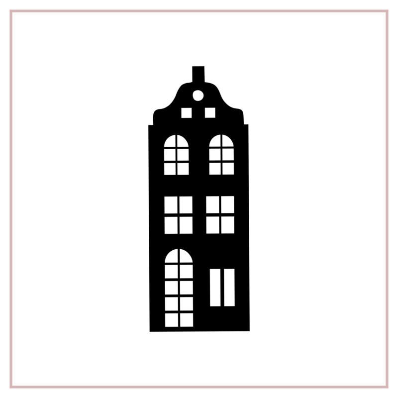 Raamstickers | Huisje 1