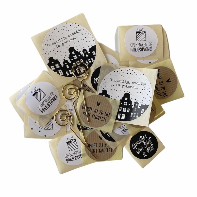 Inpakset Sinterklaas  | stickers
