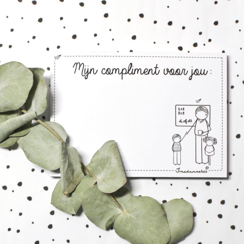 Complimentenblokje | meester