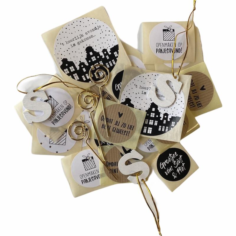 Inpakset Sinterklaas  | stickers en hangers