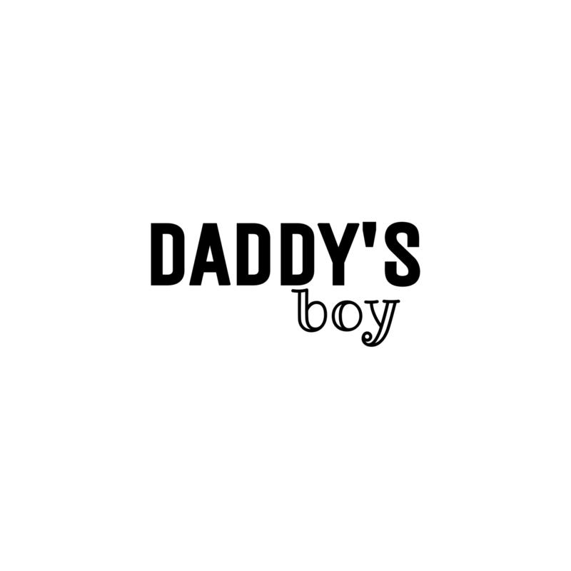 Daddy's boy   strijkapplicatie