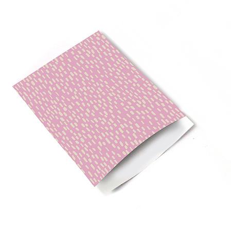 Inpakzakjes raindrops pink - 17 x 25 cm