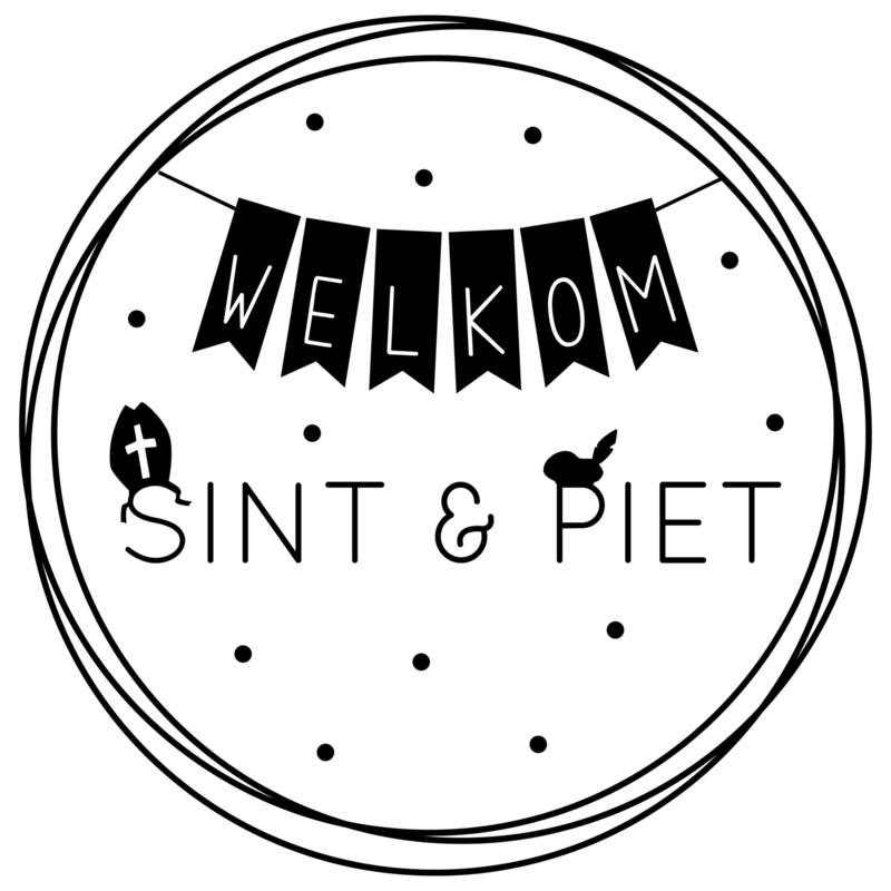 Welkom Sint & Piet | raamsticker