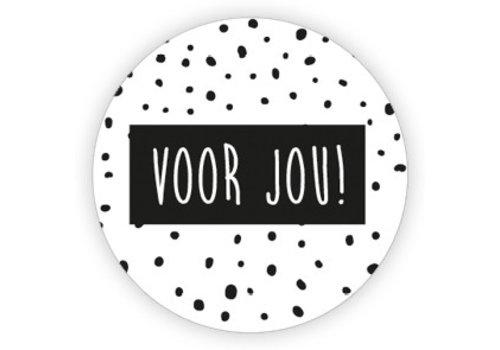 Voor jou | sticker