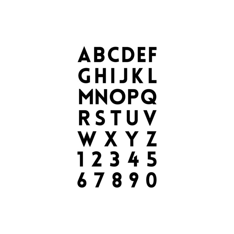 Alfabet en cijfers | statische raamstickers