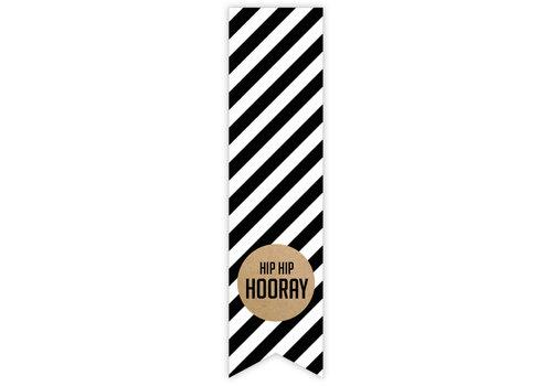 Hip hip hooray label | sticker