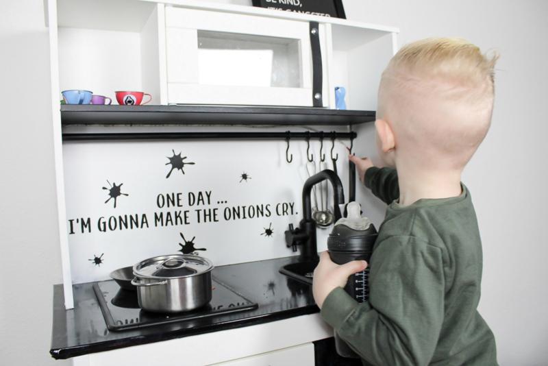 One day ... | keukensticker