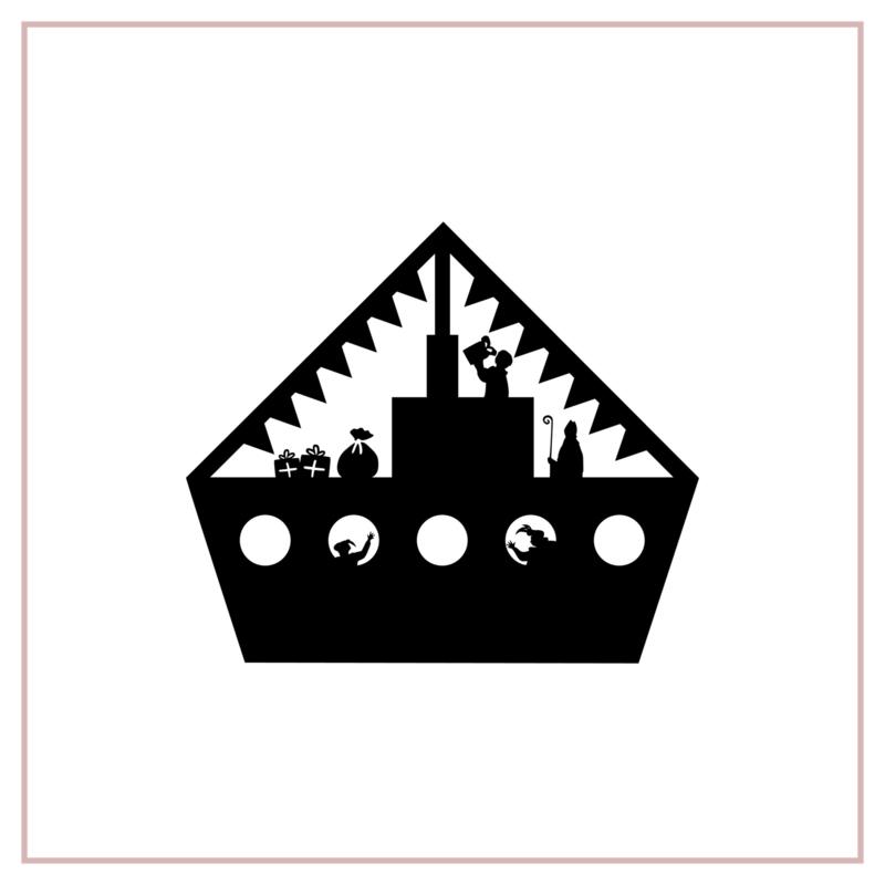 Raamstickers | Sinterklaasboot