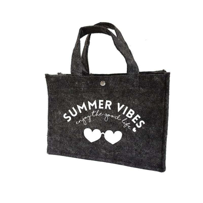 Summer vibes - hartjes   vilten kindertas