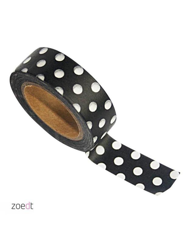 Zwart met stippen   masking tape