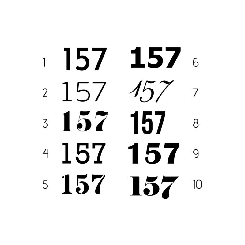 Huisnummers | stickers