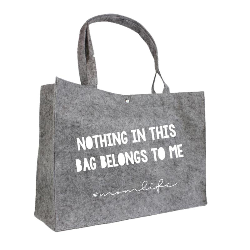 Nothing in this bag belongs to me | vilten tas