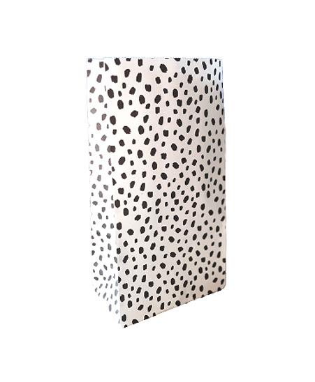 Papieren zak dots - maat M | blokbodemzak