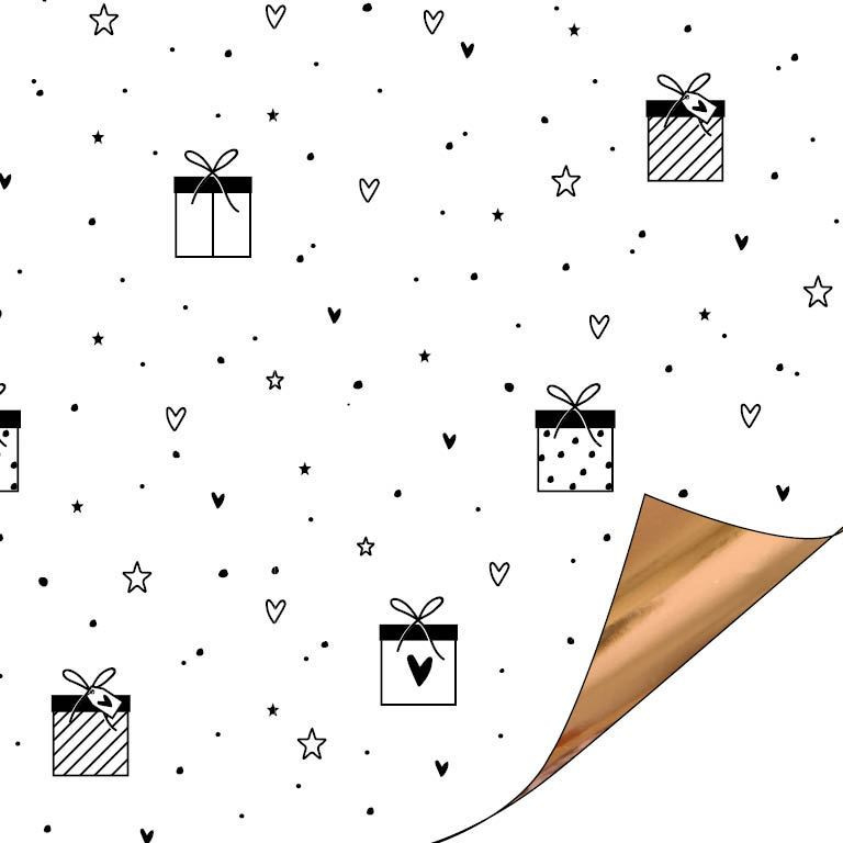 Love to give - roségoud | cadeaupapier