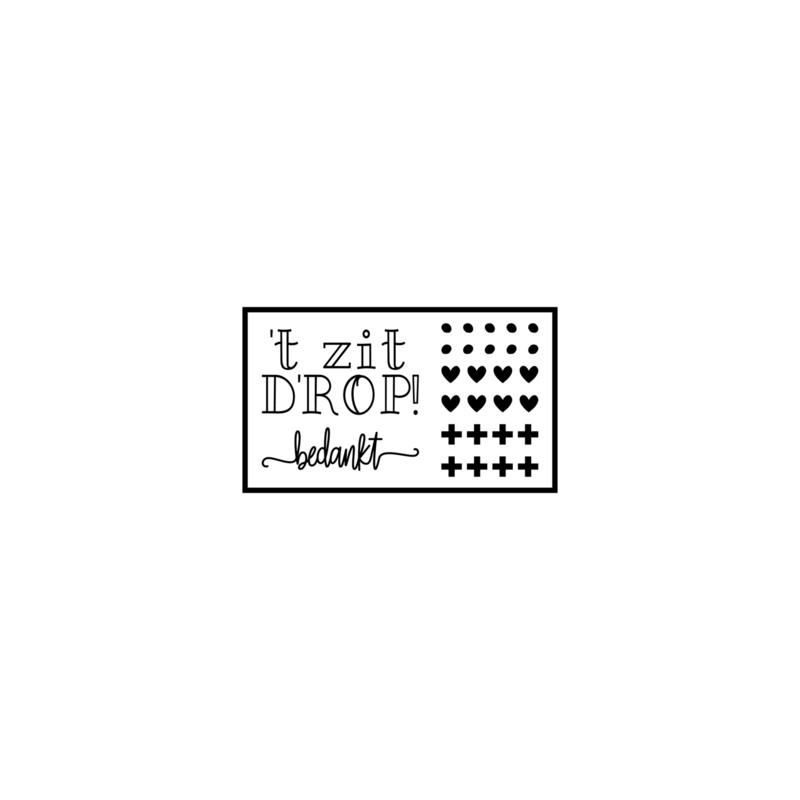't zit D'ROP - juf - DIY sticker
