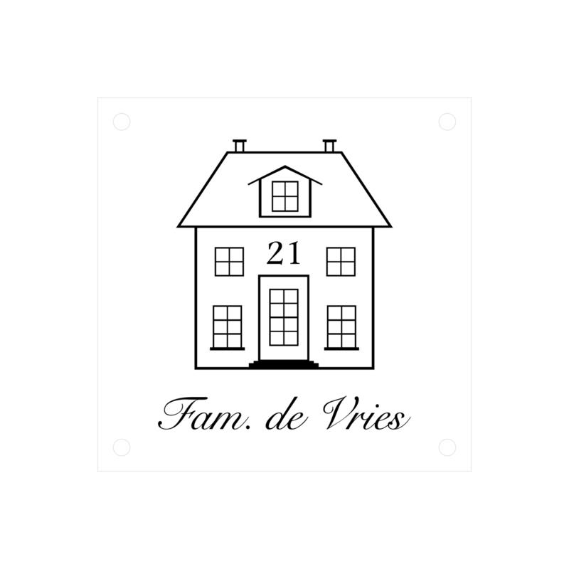 Naambordje woonhuis | plexiglas