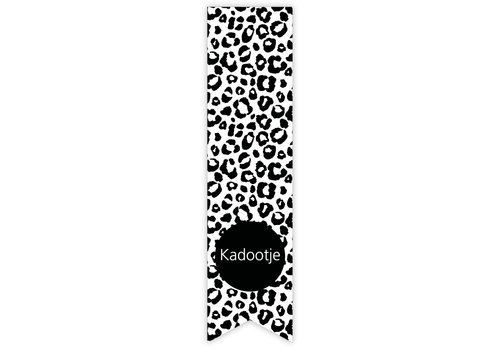 Kadootje panterprint label | sticker