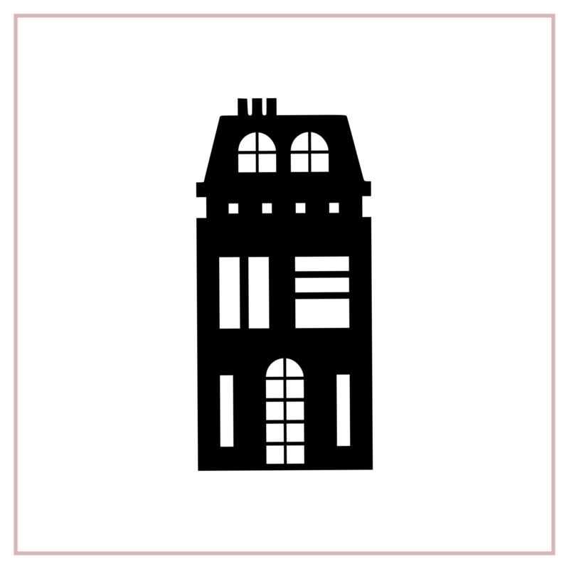 Raamstickers | Huisje 2