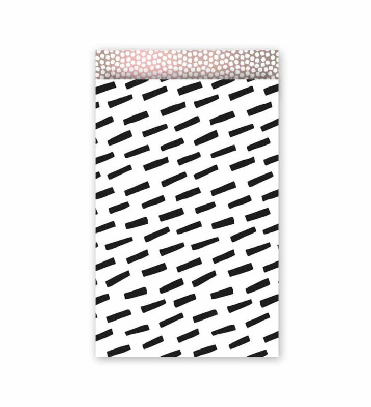 Open spaces zwart wit | cadeauzakje - 12 x 19 cm
