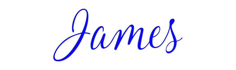 Naamsticker James
