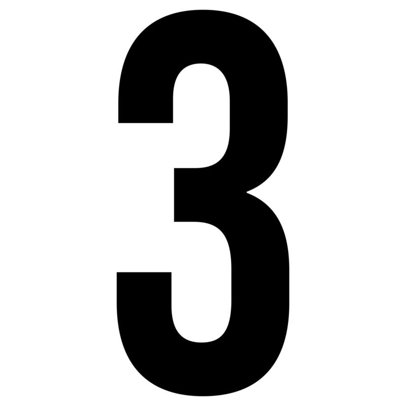 Cijfer | raamsticker herbruikbaar