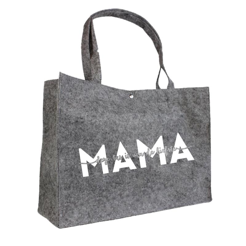 Deze tas is van de liefste mama | vilten tas