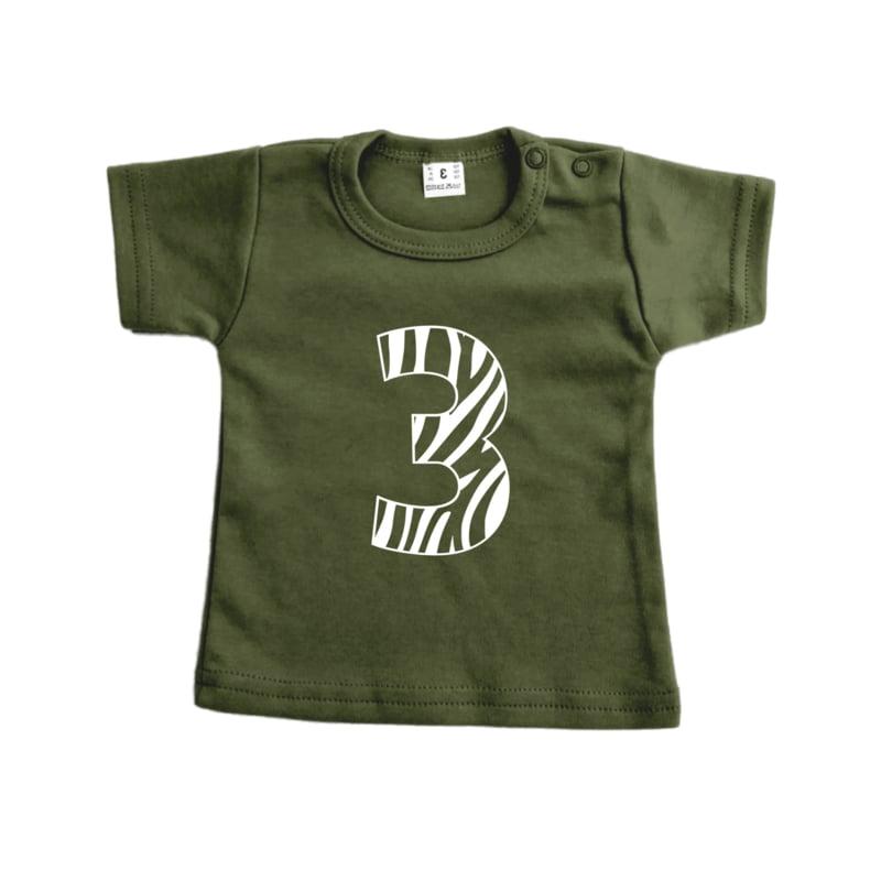 Leeftijdsshirt 3 jungle | shirt