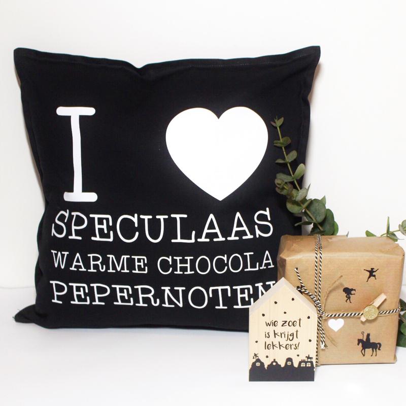 Kussenhoes   I love speculaas