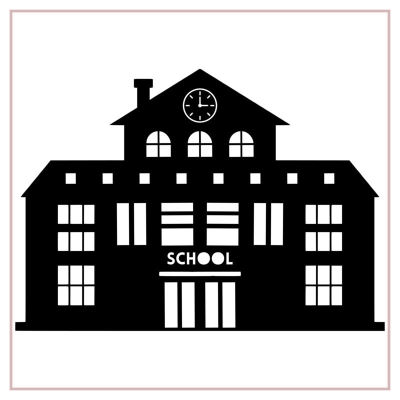 Raamstickers   School