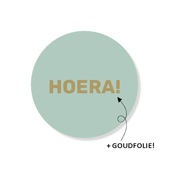 HOERA - mint | sticker